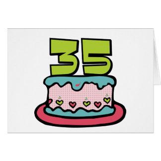 35 Year Old Birthday Cake Card