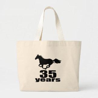 35 Years Birthday Designs Large Tote Bag