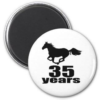 35 Years Birthday Designs Magnet