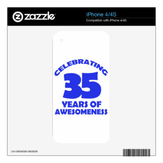 35 years old birthday designs skins for iPhone 4