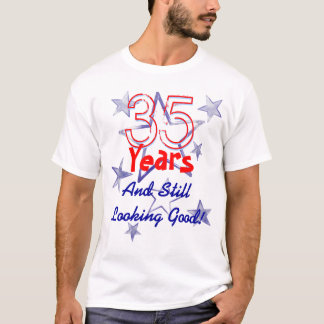 35 Years Still Looking Good USA Stars Birthday T-Shirt