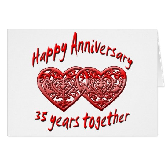 35 Years Together Card