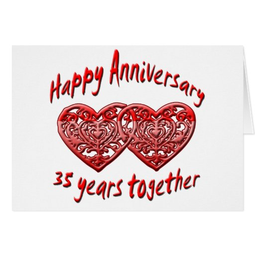 35 Years Together Greeting Card