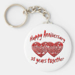 35 Years Together Keychain