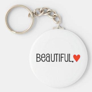 35e2b24 beautiful bright red heart key chain