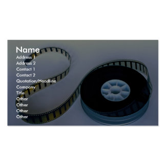 35mm blank film reel Double-Sided standard business cards (Pack of 100)