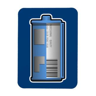 35mm Film Canister Magnet (blue background)