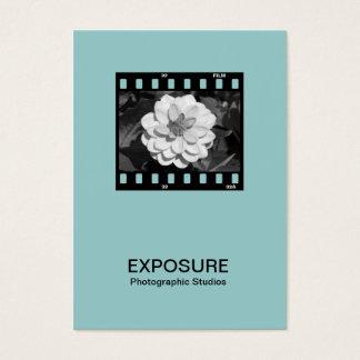 35mm Film Frame 01 - Lt BlueGreen Business Card