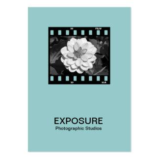 35mm Film Frame 01 - Lt BlueGreen Business Card Template