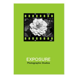 35mm Film Frame 01 - Martian Green Business Card Template
