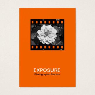 35mm Film Frame 01 - Orange Business Card
