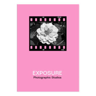 35mm Film Frame 01 - Pink Business Card Template