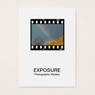 35mm Film Frame 02 - White - Rainbow Business Card