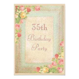 35ta fiesta de cumpleaños de los rosas elegantes