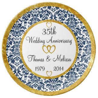35ta placa personalizada de la porcelana del plato de cerámica