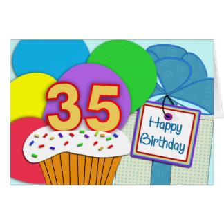 35ta tarjeta de cumpleaños feliz