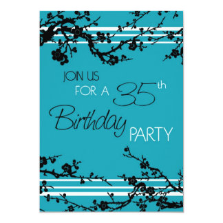 35ta tarjeta de la invitación de la fiesta de
