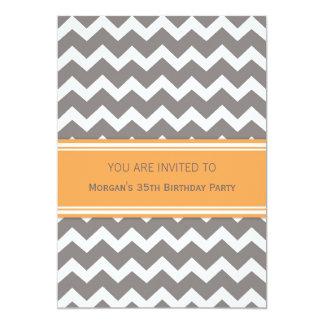 35tas invitaciones anaranjadas de la fiesta de invitación 12,7 x 17,8 cm