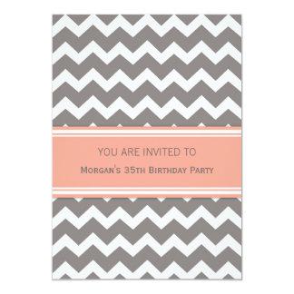 35tas invitaciones coralinas de la fiesta de invitación 12,7 x 17,8 cm