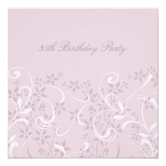 35tas invitaciones florales púrpuras de la fiesta invitación 13,3 cm x 13,3cm