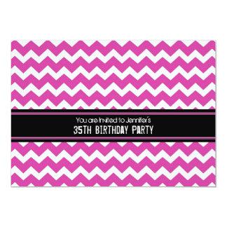 35tas invitaciones negras rosadas de la fiesta de invitación 12,7 x 17,8 cm