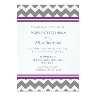 35tas invitaciones púrpuras de la fiesta de invitación 12,7 x 17,8 cm