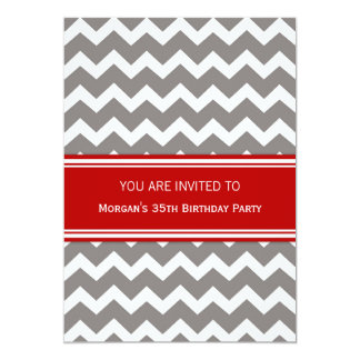 35tas invitaciones rojas de la fiesta de invitación 12,7 x 17,8 cm