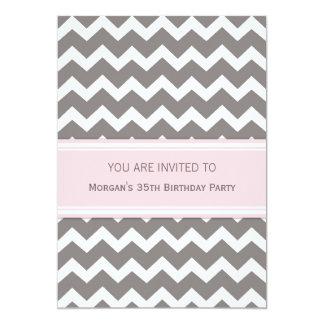 35tas invitaciones rosadas de la fiesta de invitación 12,7 x 17,8 cm