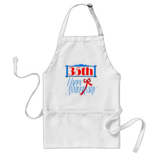 35th anniversary 3 adult apron