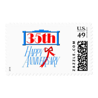 35th anniversary 3 postage stamps