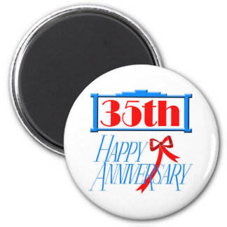 35th anniversary 3 refrigerator magnet