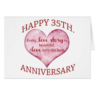 a happy 35th wedding anniversary hearts cards zazzle