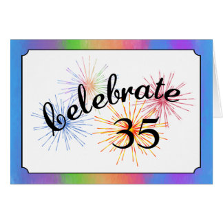 35th Anniversary Celebration Greeting Cards