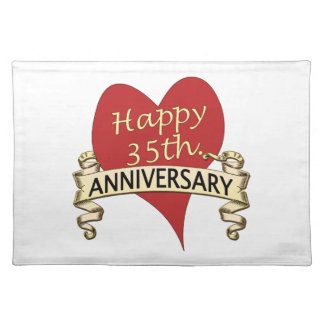 35th. Anniversary Cloth Placemat