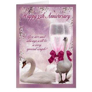 35th Anniversary - Coral Anniversary Card at Zazzle
