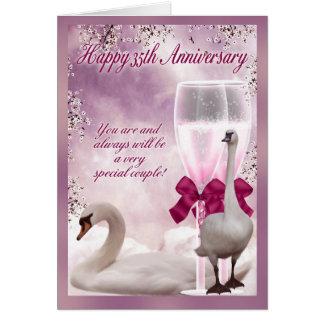 35th Anniversary - Coral Anniversary Card
