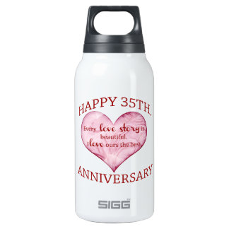 35th. Anniversary Insulated Water Bottle