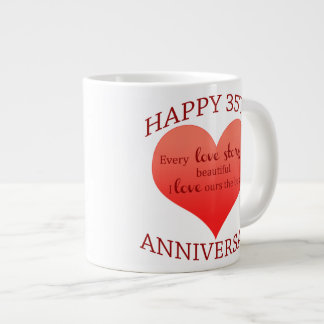 35th. Anniversary Large Coffee Mug