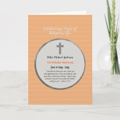 35th Anniversary Ordination Priest - ANY Clergy Card