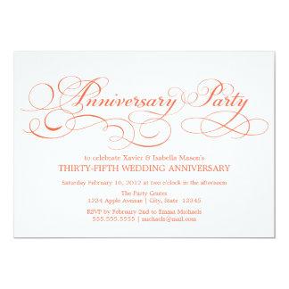 35th Anniversary | White/Coral Card