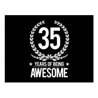 35th Birthday (35 Years Of Being Awesome) Postcard