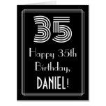 "[ Thumbnail: 35th Birthday — Art Deco Inspired Look ""35"" + Name Card ]"