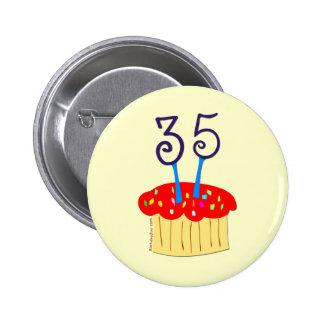 35th Birthday Button