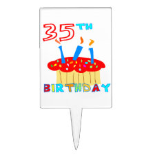 35th Birthday cake topper