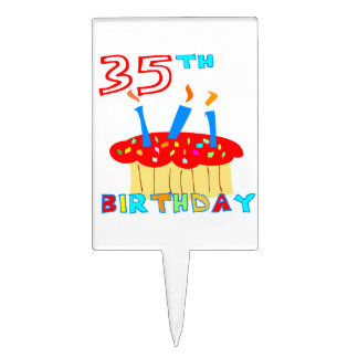 35th Birthday Cake Toppers