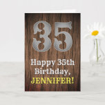 [ Thumbnail: 35th Birthday: Country Western Inspired Look, Name Card ]