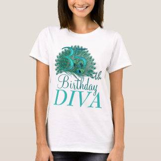 35th Birthday Diva Shirts