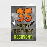 [ Thumbnail: 35th Birthday: Eerie Halloween Theme + Custom Name Card ]