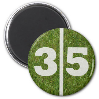 35th Birthday Football Yard Magnet