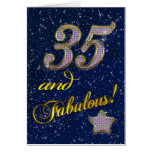 35th birthday for someone Fabulous Card